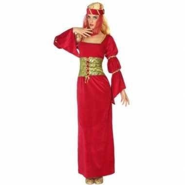 Middeleeuwse prinses/jonkvrouw verkleed kostuum voor dames