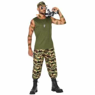 Militair/soldaat verkleed kostuum/kostuum voor heren