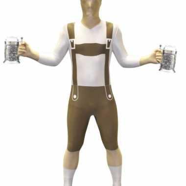 Morphsuit kostuum lederhose