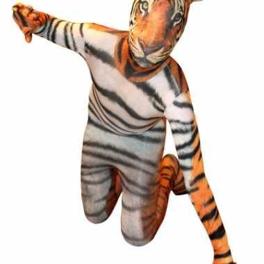 Morphsuit kostuum met tijger print