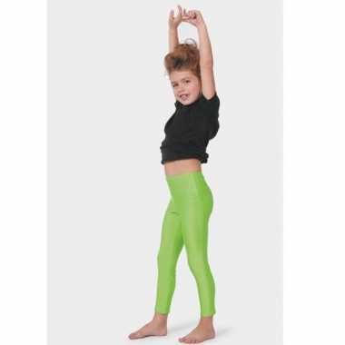 Neon groene kinder leggings