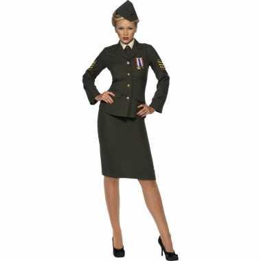 Oorlog officier kostuum voor dames