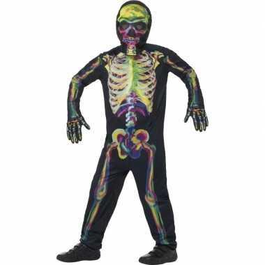 Oplichtende skelet kostuum voor kinderen