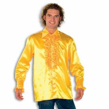 Overhemd geel met rouches heren