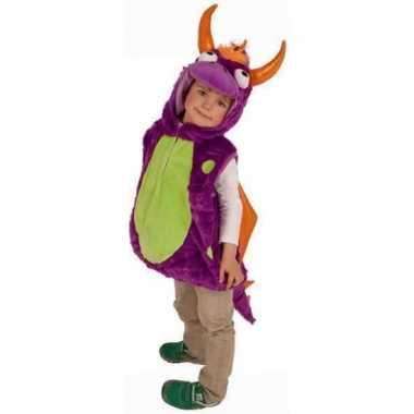 Paarse drakenkostuum voor kinderen