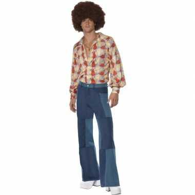 Patchwork jaren 70 kostuum voor heren