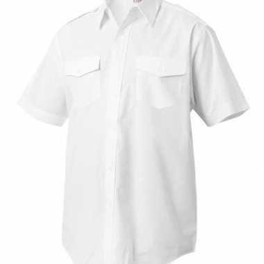 Piloten captains shirt korte mouw