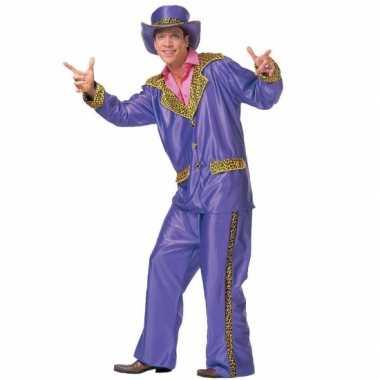 Pimp kostuum paars voor heren