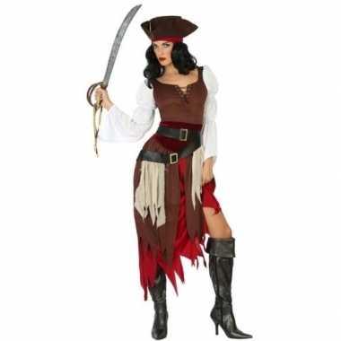 Piraat francis verkleed kostuum/kostuum voor dames