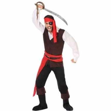 Piraat john verkleed kostuum/kostuum voor heren