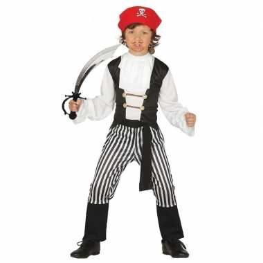 Piraten kostuum maat 128 134 met zwaard voor kinderen