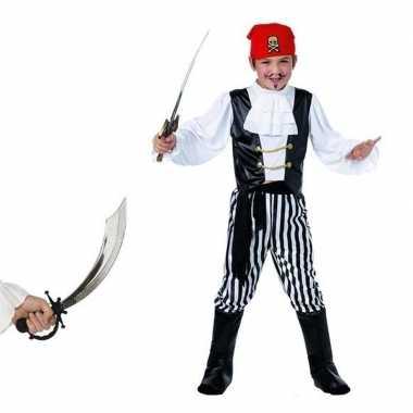 Piraten kostuum maat m met zwaard voor kids