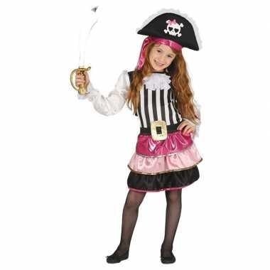 Piraten kostuum roze voor meisjes