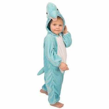 Pluche dolfijnen kostuum blauw