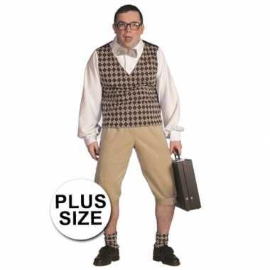 Plus size nerd kostuum heren