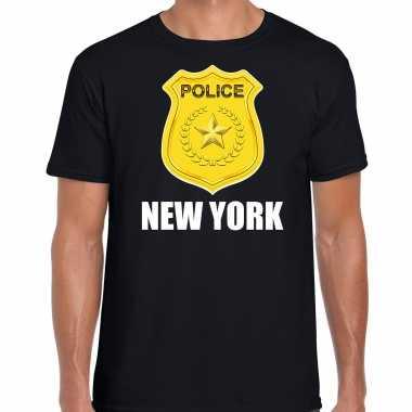 Police / politie embleem new york verkleed t shirt zwart voor heren
