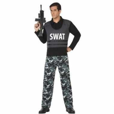Politie swat verkleed kostuum/kostuum voor volwassenen