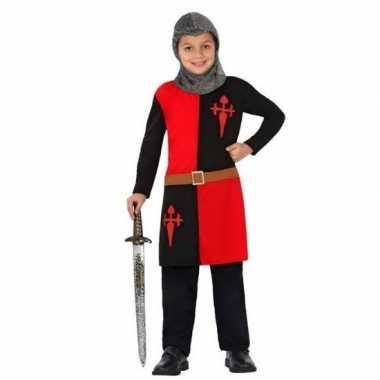 Ridder kostuum/verkleed kostuum rood voor jongens