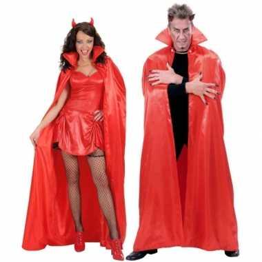 Rode verkleed cape voor volwassenen