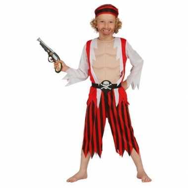 Rood piraten kostuum voor kinderen