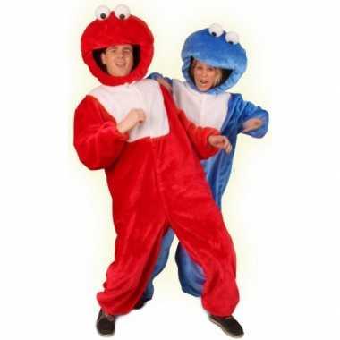 Rood pluche monster kostuum