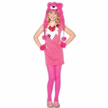 Roze berenkostuumje voor meisjes
