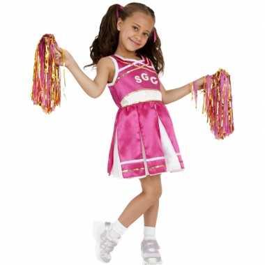 Roze cheerleader kostuum