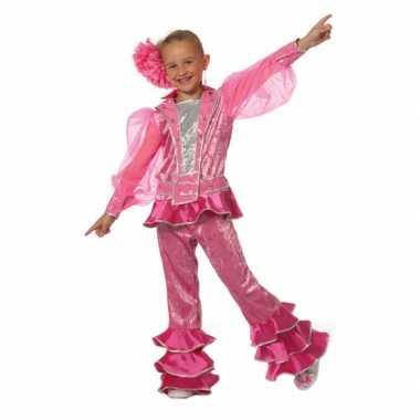 Roze disco carnavalskostuum kids