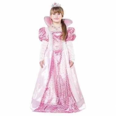 Roze koningin kostuum voor meisjes