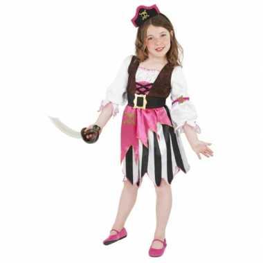 Roze piraten carnavalskostuum