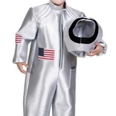 Ruimtekostuum voor kinderen zilver