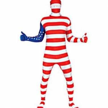 Secon skin kostuum met amerika vlag
