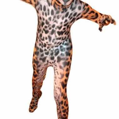 Kostuum kostuum met luipaard print