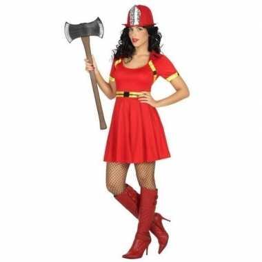 Sexy brandweervrouw verkleed kostuum/jurkje voor dames