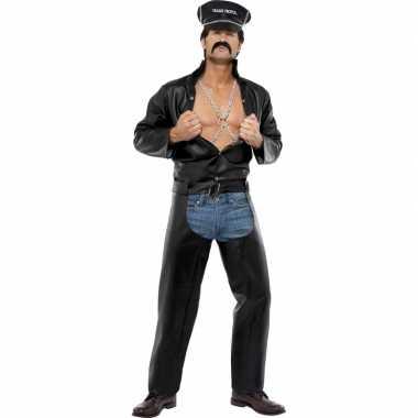 Sexy heren kostuum motorrijder