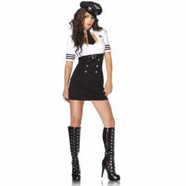 Sexy kapitein kostuum voor dames