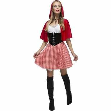 Sexy roodkapje verkleed kostuum/jurkje voor dames
