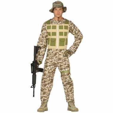 Soldaat verkleed kostuum/kostuum camouflage/woestijn voor heren