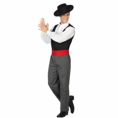 Spaanse flamencodanser verkleed kostuum voor heren