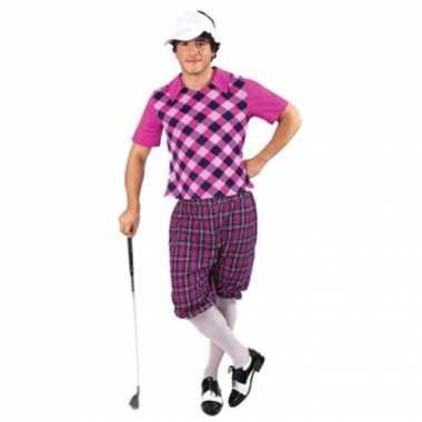 Sportieve golfers kostuum voor heren