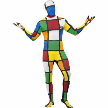 Strak rubiks kubus kostuum