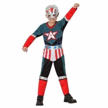 Superheld kapitein amerika kostuum/verkleed kostuum voor jongens