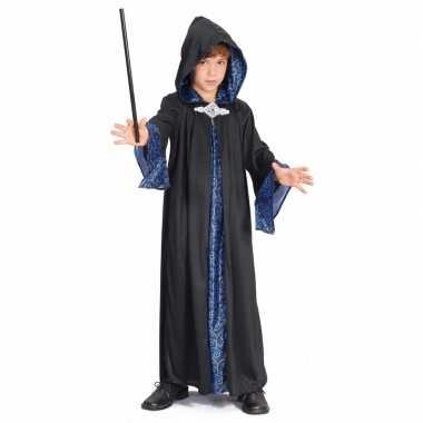 Tovenaar kinder kostuum zwart/blauw