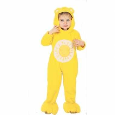 Troetelberen kostuum geel voor kinderen