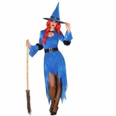 Verkleed kostuum blauwe heks