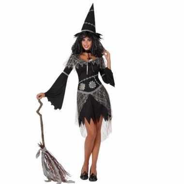 Verkleed kostuum zwarte heks