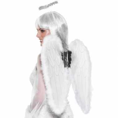 Verkleedaccessoires vleugels wit
