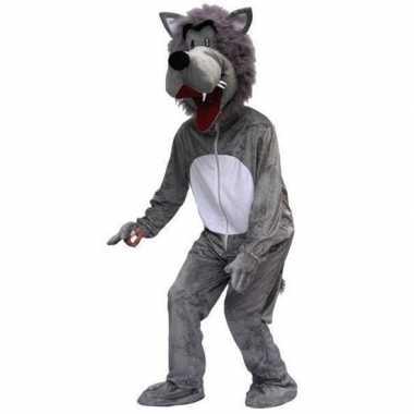 Verkleedkostuum wolf voor volwassenen