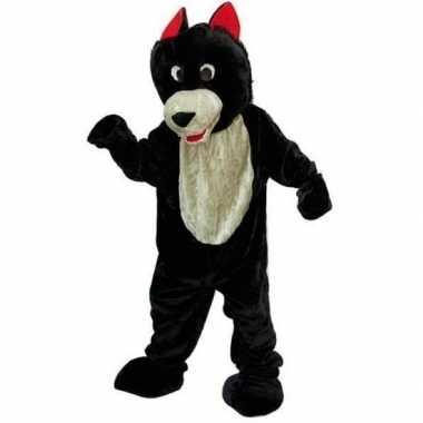 Wolf kostuum van pluche