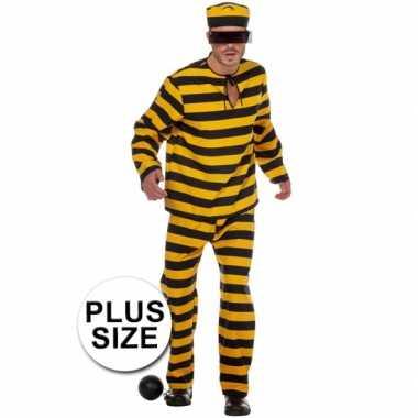 Xl inbreker kostuum zwart/geel voor heren